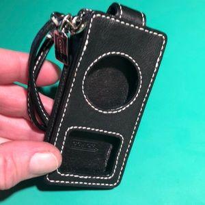 Coach Black Leather iPod Case
